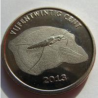 О.Синт-Эстатиус 25 центов 2013 г