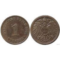 YS: Германия, Рейх, 1 пфенниг 1905A, KM# 10 (2)