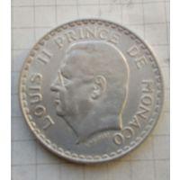 Монако 5 франков 1945г