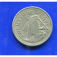 Барбадос 25 центов 1998