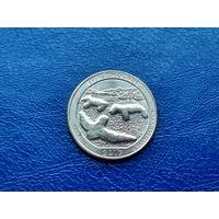 США. 25 центов (квотер, 1/4 доллара) 2017 P. Национальный памятник Эффиджи-Маундз.