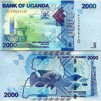 Уганда  2000 шиллингов 2017 год  UNC   НОВИНКА