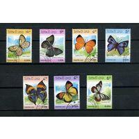 Лаос 1986г. бабочки, 7м.