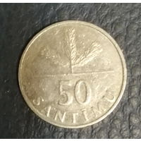 Латвия. 50 сантимов 1992