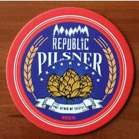 Подставка под пиво REPUBLIC CRAFT BREWERY The spirit of Siberia /Абакан, Россия/ No 1