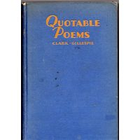 Quotable Poems: An Anthology of Modern Verse (1928)