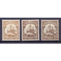 Германия Восточная Африка 2 1/2 гел 0Wz и Wz 1 1901-1919 гг