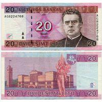 Литва. 20 лит (образца 2007 года, P69) [серия AG]