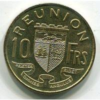 РЕЮНЬОН - 10 ФРАНКОВ 1964