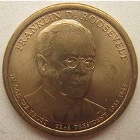 США 1 доллар 2014 г. Франклин Делано Рузвельт. 32-й президент США