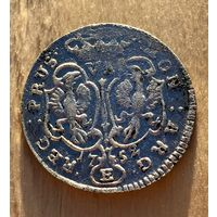 6 грошей 1752. Серебро, всё с рубля. Свежак.
