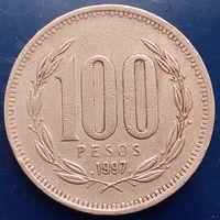100 песо 1997 Чили КМ# 226.2 алюминиевая бронза