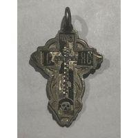 Крестик лепесток (листик) серебро 84. эмали. Торг