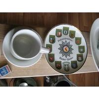 Редкая сувенирная тарелка в память о полицейских соревнованиях,включая и пограничную службу,ещё необъединённой Германии федеральной земли Ваден-Ваден.