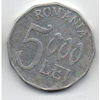 5000 ЛЕЙ 2002 РУМЫНИЯ