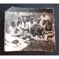 """Фото """"Переселенцы из Молодечно, золотые прииски в Якутии"""", г. Алдан, 1937 г."""