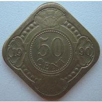 Нидерландские Антильские острова 50 центов 1990 г.