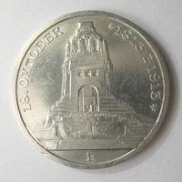 Саксония 3 марки 1913 100-летие битвы под Лейпцигом