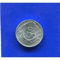 Антильские острова 5 центов 1990 UNC