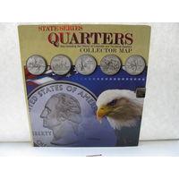 """Набор 1/4 доллар, 25 центов (квотер) США. """"Штаты США"""""""