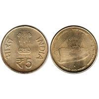 Индия 5 рупий 2014 100 лет Инциденту Комагата Мару UNC