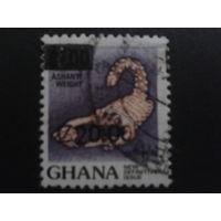 Гана 1988 стандарт, надпечатка