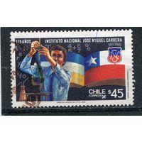 Чили. Национальный институт. Флаг государства и герб института