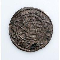 SACHSEN - DRESDEN PFENNIG 1664