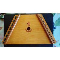 Гусли детские деревянные 37*20 см с набором нот песен