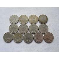 Дания 13 монет по 10 эре
