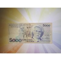 Бразилия 5000 крузейро 1990-93гг