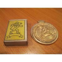 Интересная бронзовая медаль. Германия, конец прошлого века.