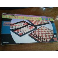 Набор настольных игр 3 в 1 (шашки, шахматы, нарды)