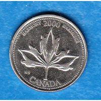 Канада 25 центов 2000 год  Гармония