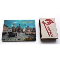 Магнит на холодильник, смена картинки Франкфурт - Нюрнберг, винил
