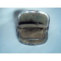 Старинный кожаный кошелек.Три отделения.Замшевая подкладка.Начало XX-го века.