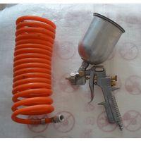 Краскораспылитель+съемный шланг компрессора