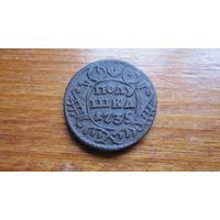 Полушка 1735 г. Хорошая. Распродажа коллекции.