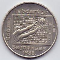 Венгрия,  100 форинтов 1988 года. Футбол, ЧЕ 1988 года.