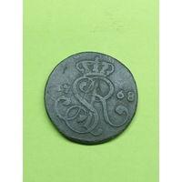 1 грош 1768 *песочный сохран/родная патина*