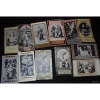 """Сборный лот из 34-ёх старинных каталических образиков, по теме: +""""Pamiatka Misji Swietej""""+ моя коллекция до 1917 года - антикварная редкость - цена за всё, что на фото, по отдельности пока не продаю-!"""
