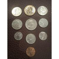 Набор монет США. Отличные!