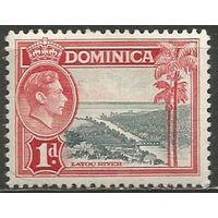 Доминика. Король Георг VI. Речной пейзаж. 1938г. Mi#94.