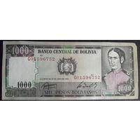 Боливия. 1000 боливиано 1982