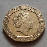 20 пенсов, Великобритания 2015 г.