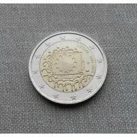 Литва, 2 евро 2015 г., флаг ЕС