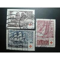 Финляндия 1937 Кр. крест, Парусники полная серия