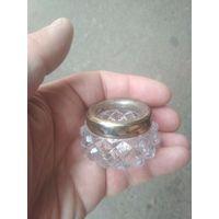 Солонка серебро 875 проба