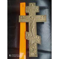 Крест старинный .19 век.  Орнамент.Большой.