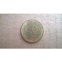 Франция 10 сантимов, 1984г. (U)